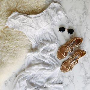 Akasa white beach cover-up dress